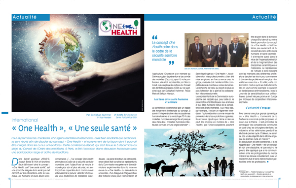 Article CDF Mag One Health