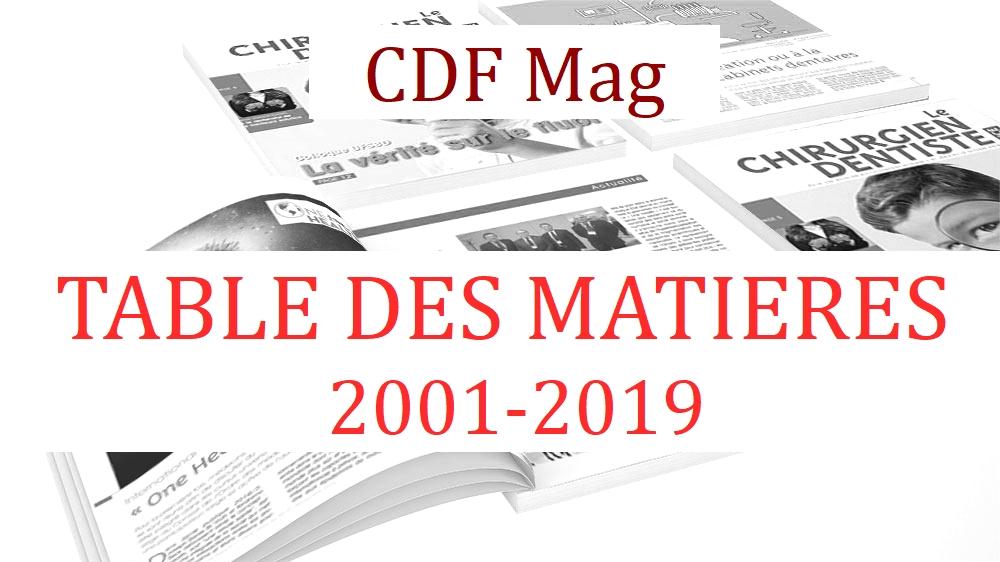 Table des matières CDF Mag